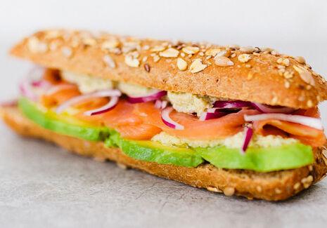 De Trog Vitali Artichoke Salmon Sandwich